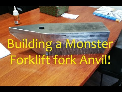 Making A Large Striking Anvil From A Forklift Fork - The Arkvil Build Mp3