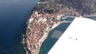 preview picture of video 'Flying over Piran'