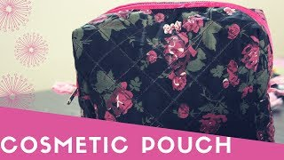 Boxy Pouch Tutorial/Zippered Make Up Bag Tutorial/Sivakasi Samayal Express 76