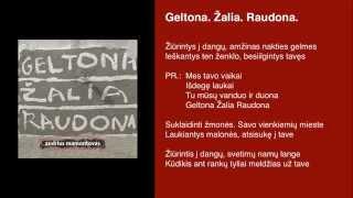 """Video thumbnail of """"Andrius Mamontovas - Geltona. Žalia. Raudona."""""""