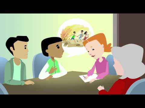Hva nå? Informasjon om asylprosessen for enslige mindreårige asylsøkere (fransk).