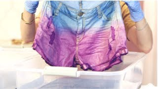 DIY Fashion, Tie Dye Shorts, Fab Flash