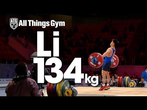 Li Fabin 134kg Snatch Almaty 2014 World Weightlifting Championships