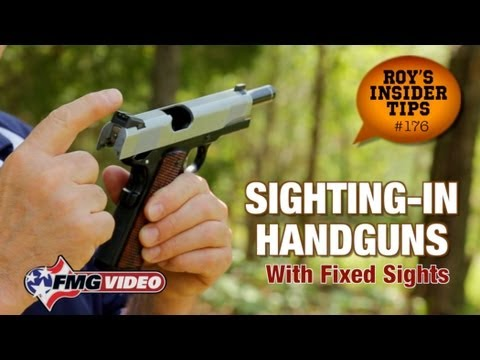Sighting-In Handguns With Fixed Sights