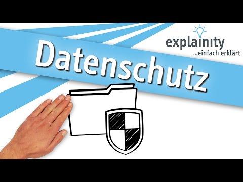 Datenschutz einfach erklärt (explainity® Erklärvideo)