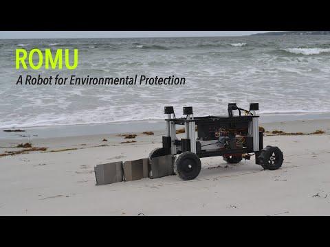 Robot autonomously builds erosion barriers