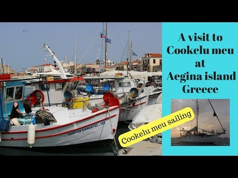 visit to Aegina island, Greece where Cookelu meu stands on iron legs on the hard.