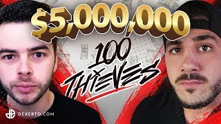 100 Thieves Nadeshot $5,000,000 Broken Promise to NickMercs Revealed Before Joining FaZe Clan