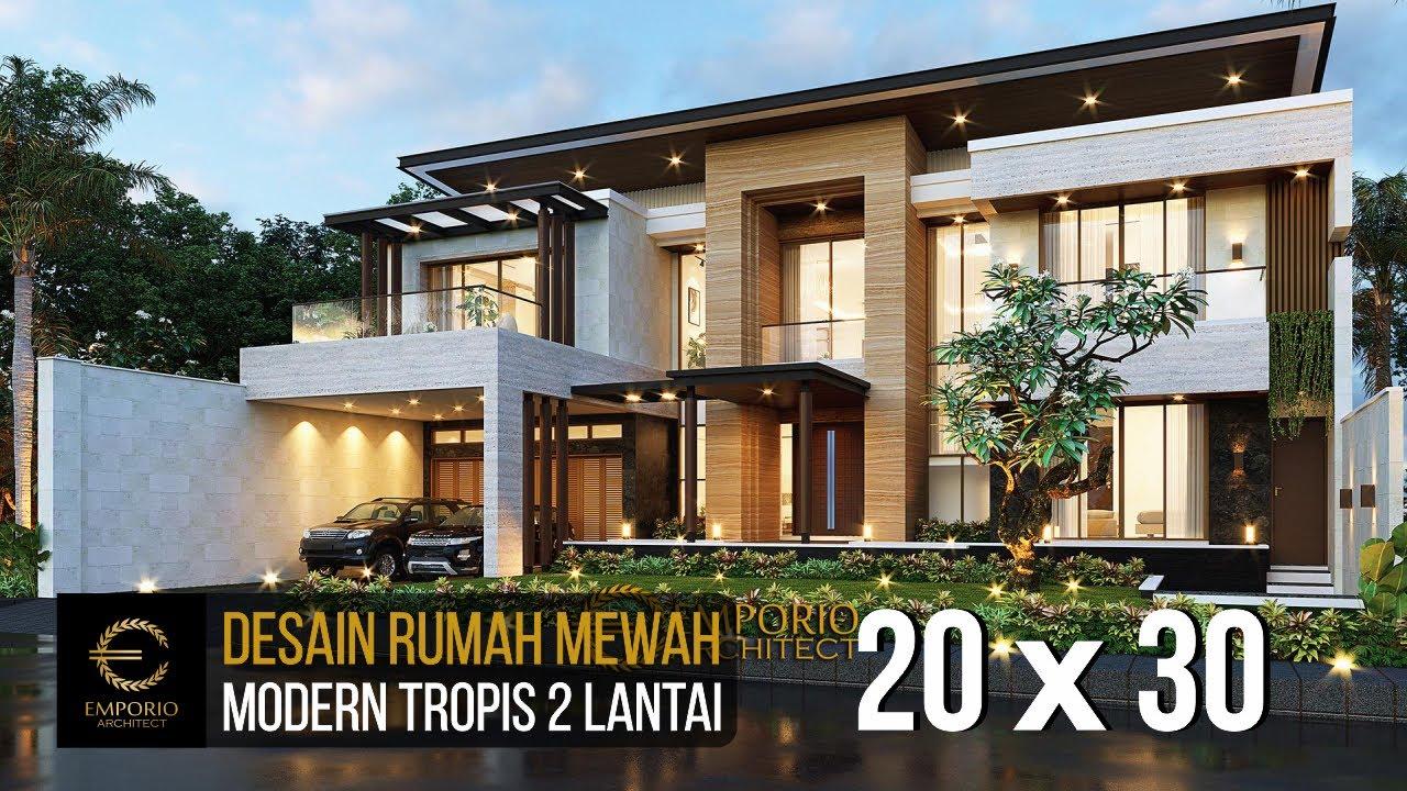 Video 3D Desain Rumah Modern 2 Lantai Bapak Didi - Palembang