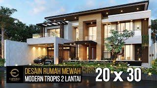 Video Desain Rumah Modern 2 Lantai Bapak Didi di  Palembang