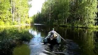 Рыбалка в карелии на реке выг