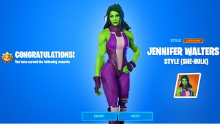 HOW TO GET SHE-HULK STYLE - ALL JENNIFER WALTERS AWAKENING CHALLENGES GUIDE FORTNITE