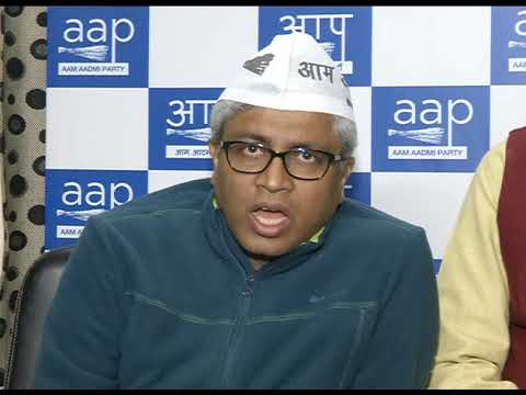 Aap Senior Leader and Delhi Convenor briefs media on Sansad March Protest against Sealing