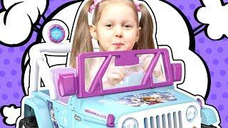 ВЫИГРАЛА ДЖИП!!! Амелька поучаствовала в конкурсе и выиграла приз Машину Джип Frozen Видео для детей