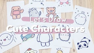 Lets Draw : Cute Characters! (Totoro, Baymax, Pusheen And More) | Doodles By Sarah