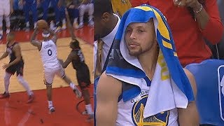 DeMarcus Cousins Embarrasses Himself After Passing To Stephen Curry Who's On The Bench!