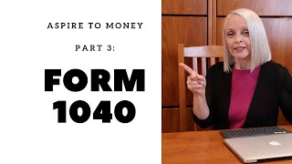 Form 1040 Page 2 - Part 2 (Aspire To Money (TM) Video Series On Form 1040)