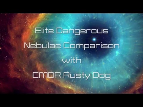 Elite Dangerous: Nebula Comparison - Game (from Galactic map) vs Real