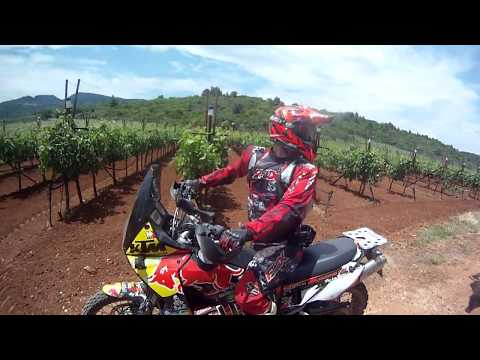 Athens to lake Doksh offroad (Ktm 640 Adventure onboard gopro cam)