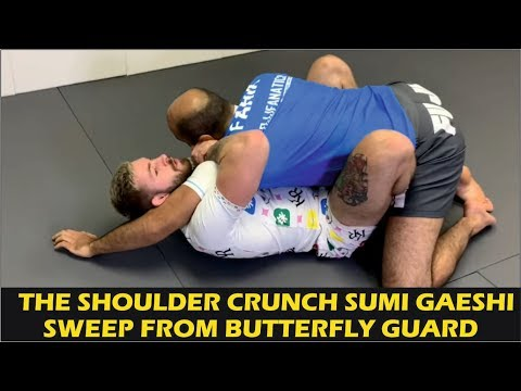 The Shoulder Crunch Sumi Gaeshi Sweep From Butterfly Guard by Gordon Ryan (ADCC 2019 Breakdown)
