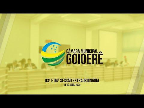 03ª e 04ª Sessão Extraordinária | 2020