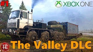 SpinTires MudRunner Xbox One: Let's Play THE VALLEY! NEW DLC GAMEPLAY! NEW MAP EXPLORATION