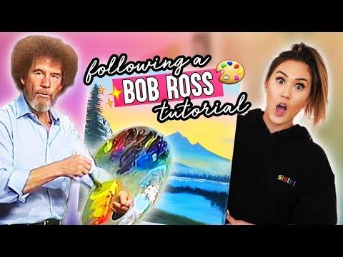 Following A Bob Ross Painting Tutorial