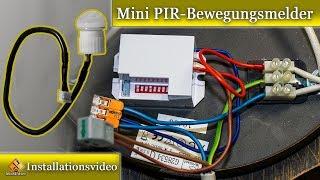 Bewegungsmelder in Lampe nachrüsten / Mini Bewegungsmelder einbauen.
