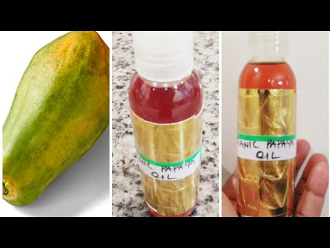DIY ORGANIC PAPAYA OIL FOR SKIN LIGHTENING