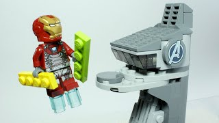 Iron Man Displays How To Build Lego Avengers Tower - Inspirational DIY Animation