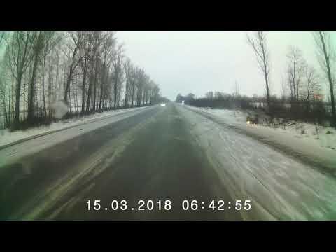 Перевертыш на  трассе Тамбов-Моршанск