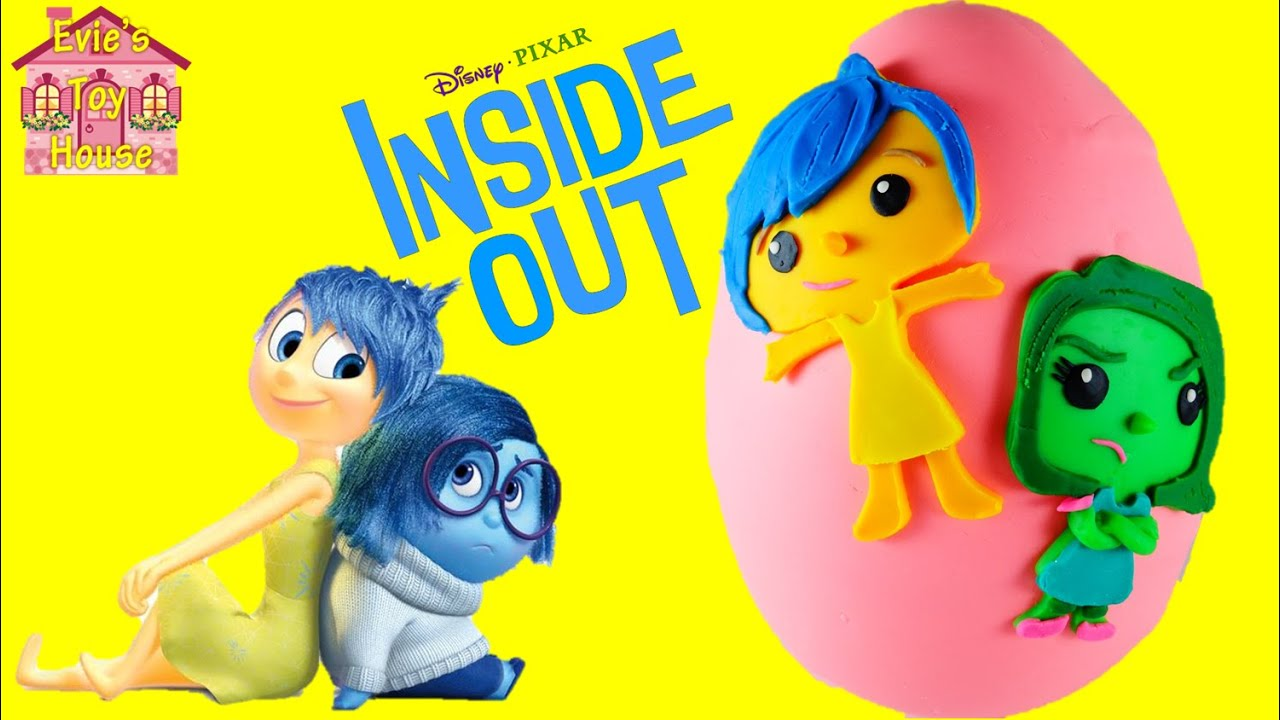 Giant Disney Pixar Inside Out Joy and Disgust Surprise Play-doh Egg   Evies Toy House