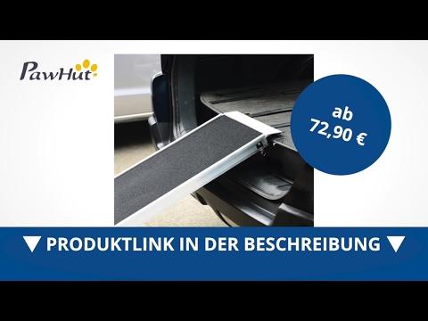 PawHut Alu Hunderampe PKW Einstiegshilfe klappbar belastbar 183x36cm - direkt kaufen!