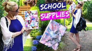DIY TUMBLR INSPIRED SCHOOL SUPPLIES! Galaxy Print Notebook & ...