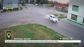 В Башкирии лихач на Мерседесе въехал в опору ЛЭП