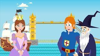 London Bridge Is Falling Down with Disney Princess | Kids Songs and Nursery Rhymes