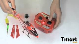 $21.11 3.5 Channel Infrared R/C Mini Helicopter with Gyro Red-14002014