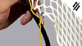 How to String a Lacrosse Head | Sidewall Anchor Knot | Step 5 | StringKing