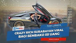 Bagi Sembako Isi Uang, Crazy Rich Surabayan Tom Liwafa Survive dengan Produksi Masker saat Pandemi
