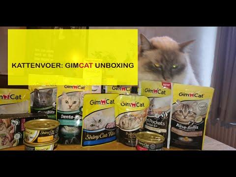 Katten - snacks uitproberen van GIMPET