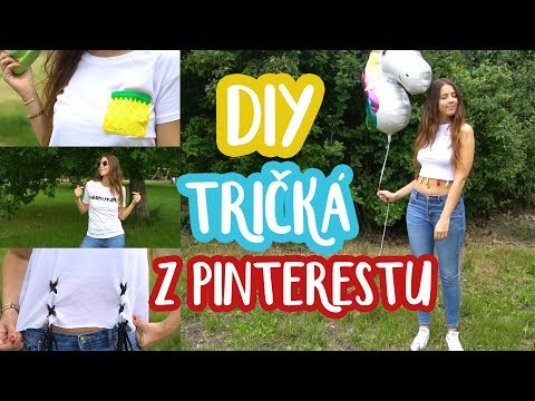 DIY 4 letné tričká z Pinterestu   Patra Bene
