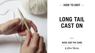 Long tail Cast on