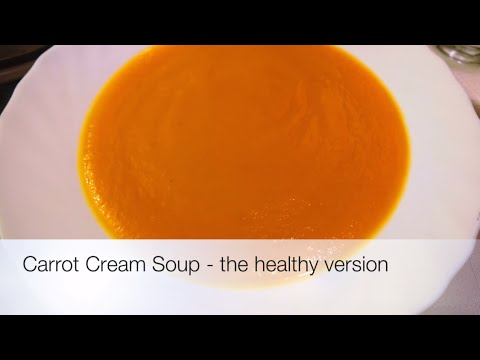 Video Carrot Cream Soup - The Healthy Version (video made on iMovie on iPad)