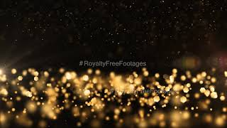 Golden particles motion background | Golden particles moving backgrounds HD | Golden particles video