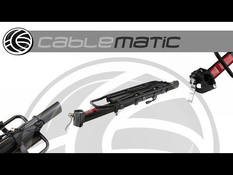 Portaequipajes metálico trasero bicicleta fijación tubo de 36x15cm distribuido por CABLEMATIC ®