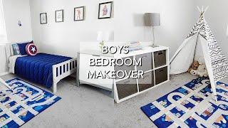 TODDLER BOY ROOM MAKEOVER