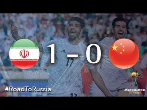 Иран - Китай 1:0. Видеообзор матча 28.03.2017. Видео голов и опасных моментов игры
