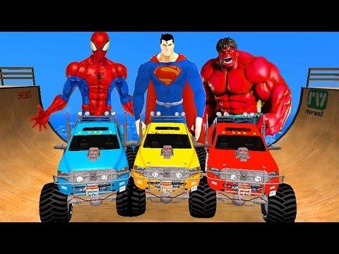 Homem Aranha Desenho Animado Em Portugues - Spiderman salva Lightning McQueen de Under Truck