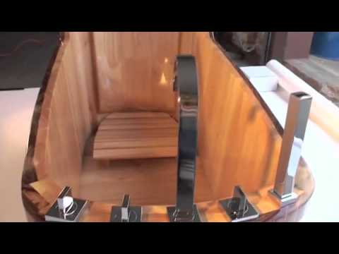 Video for 59-inch Free Standing Wood Bath Tub with Chrome Tub Filler