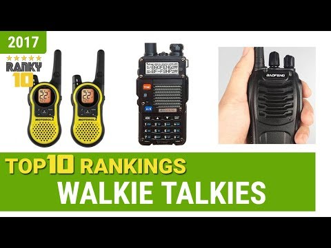 Walkie Talkies Top 10 Rankings, Reviews 2017 & Buying Guides